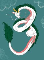Haku the Dragon by SophSouffle