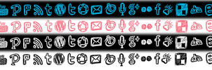 Social Media Icon Set by baronpluto