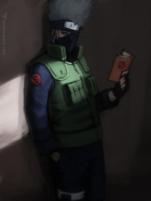 Kakashi reads by FranzNacion
