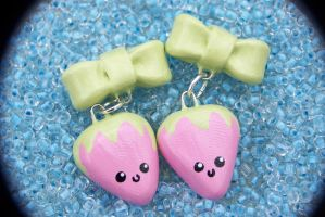 Strawberry Earrings by Shelby-JoJewelry