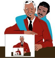 Burt Reynolds and Mr. Rodgers by garrett-btm