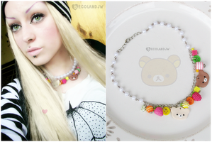 New Rilakkuma and Korilakkuma fruity charm necklac by decoland
