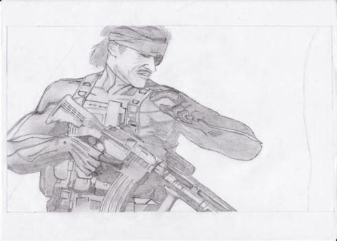 Solid Snake sketch by ito-yoshi