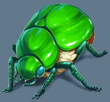 Green Beetle by soulwithin465