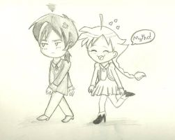 Duck and Fakir Chibis *old* by Red-velvet-icing
