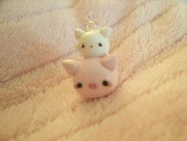Kawaii Pig and hamster charm by Chubbli