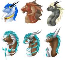 Lineless Busts by KennonInk