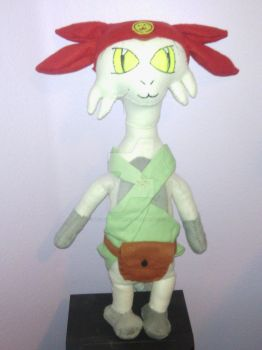 Meow plushie from Space Dandy by MissNotSoAverage