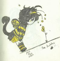 Let's Bee Friends - Traditional by SweetCatMint