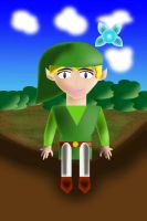 Toon Link and Navi (click to see GIF) by water16dragon
