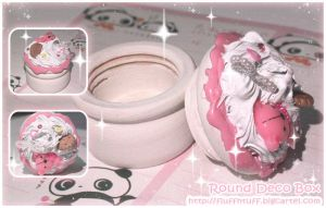 Round Deco Box by Fluffntuff
