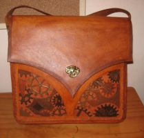 Clockworks messenger bag. by waywarddreams