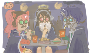 FT : Happy Halloween by holymarbles