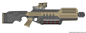 Heavy energy rifle Deadalus by Robbe25