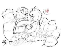 :PC: Sketchy heart by FluffehButt