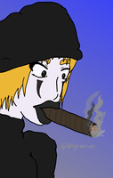 Smoking Mime by Vyctorian