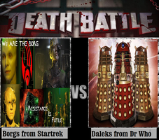 Borgs From Startrek Vs Daleks from Dr Who by newsuperdannyzx