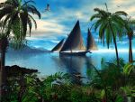 Boat in the tropics... by artist3d