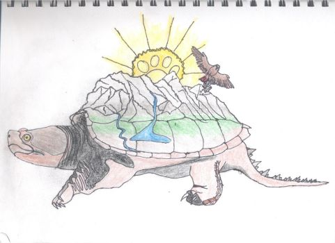 My Wildlife Club T-shirt Design: Mountain Turtle by Macrocanthrosaurus