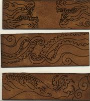 Leather etching YEAH by missmonster