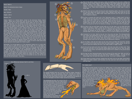 Ref sheet - Nesh'ra the demon helper by Navarose