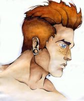 red-haired guy by Alexandra-Mad