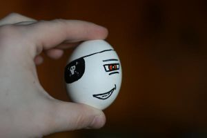 Pirate Egg by MaryElizabethMcClain