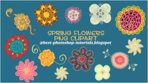 Doodle Flower Brushes by purpl3mango