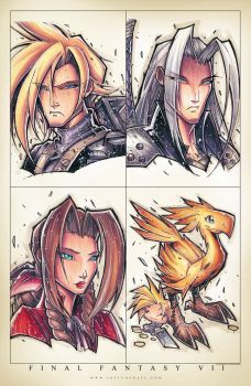 FF7 Groupshot by RobDuenas