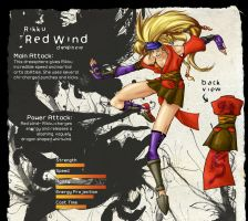 Rikku - Red Wind by Mbarok