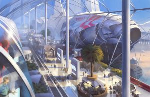 Spaceport Hall by SidharthChaturvedi