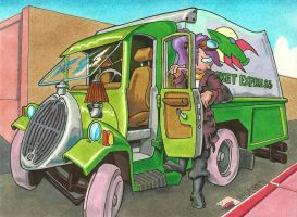 Old Timie Truck by kaspired