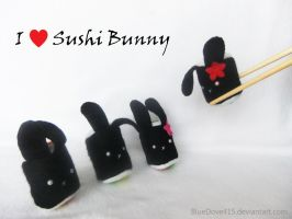 I heart Sushi Bunny by BlueDove415