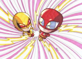 Baby Flash vs. Reverse Flash by olivernome