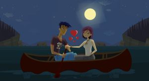 :J+N: Moonlight on the Lake by daanton