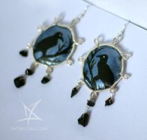 Raven earrings by MissAnnThropia