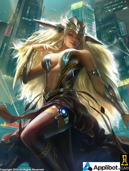 Space City Goddess by Concept-Art-House
