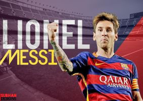 Messi 2015-16 WALLPAPER by subhan22