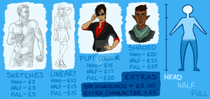 Commissions Chart by ScarabSethArt