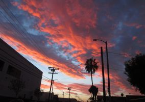 the sky on fire by ether