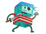 BMO The Pirate by Young-Creator