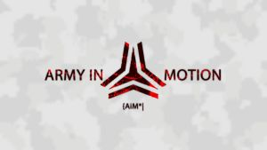 Army In Motion Emblem - White by Arctic-Hunter
