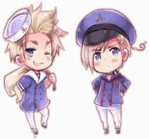 Norway and Denmark Eye Switch by Pikangie