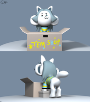 Temmie 3D Model by skunkdude13