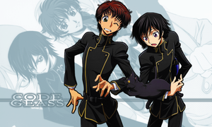 Lelouch and Suzaku (And Arthur!) Wallpaper by hermengarde