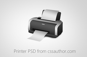 Beautiful Printer PSD for Free Download by cssauthor