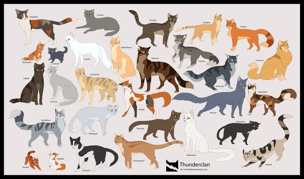 Warriors: Thunderclan by FoxifyArt