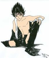 Leather suits Hiei Fans by rouko