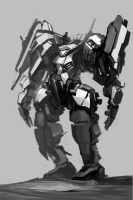 another mecha sketch by ksenolog