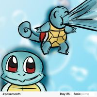 #25 Pokemonth Squirtle by JordenTually